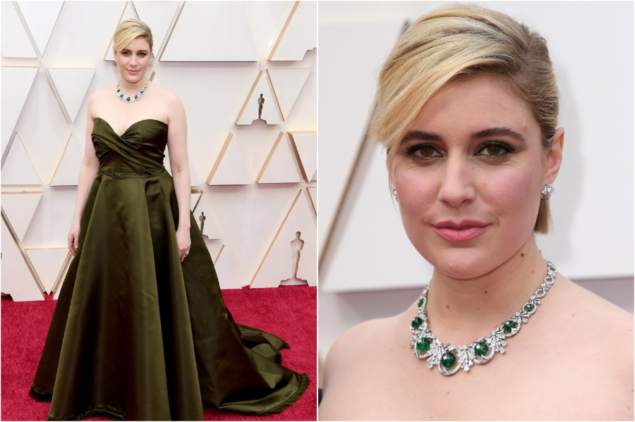 10. Greta Gerwig, 2020 Oscars | The Most Memorable Red Carpet Jewelry | Her Beauty