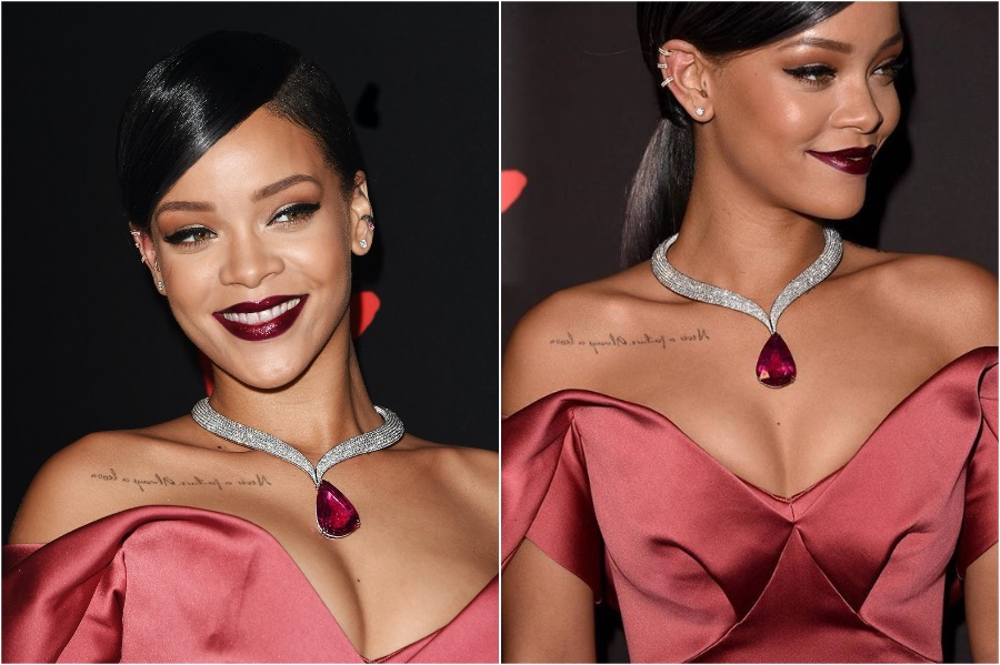 5. Rihanna, 2014 Diamond Ball | The Most Memorable Red Carpet Jewelry | Her Beauty