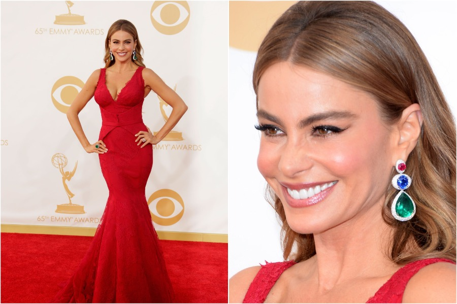 6. Sofia Vergara, 2013 Emmys | The Most Memorable Red Carpet Jewelry | Her Beauty