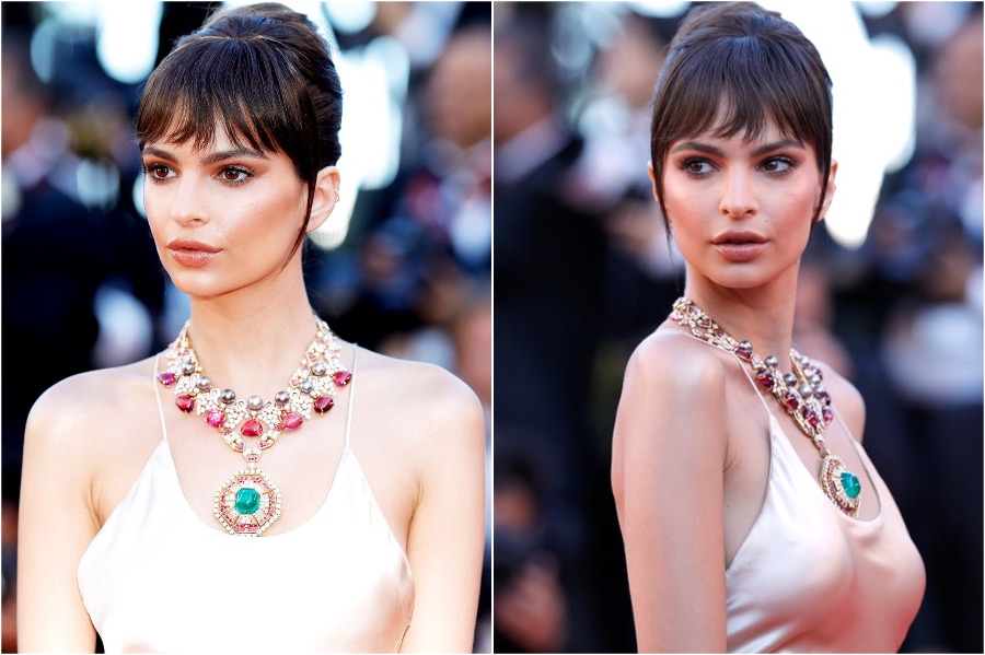 7. Emily Ratajkowski, 2017 Cannes | The Most Memorable Red Carpet Jewelry | Her Beauty