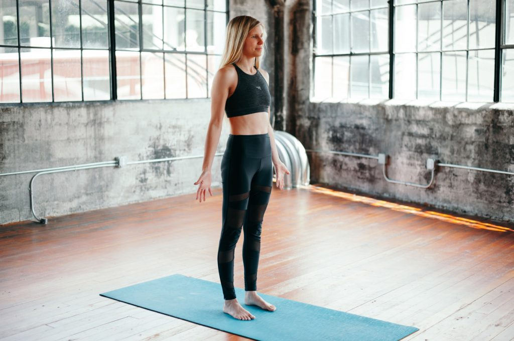 Tadasana (Mountain Pose) | 8 Yoga Poses to Boost Your Immunity, Flexibility, and Mood | Her Beauty