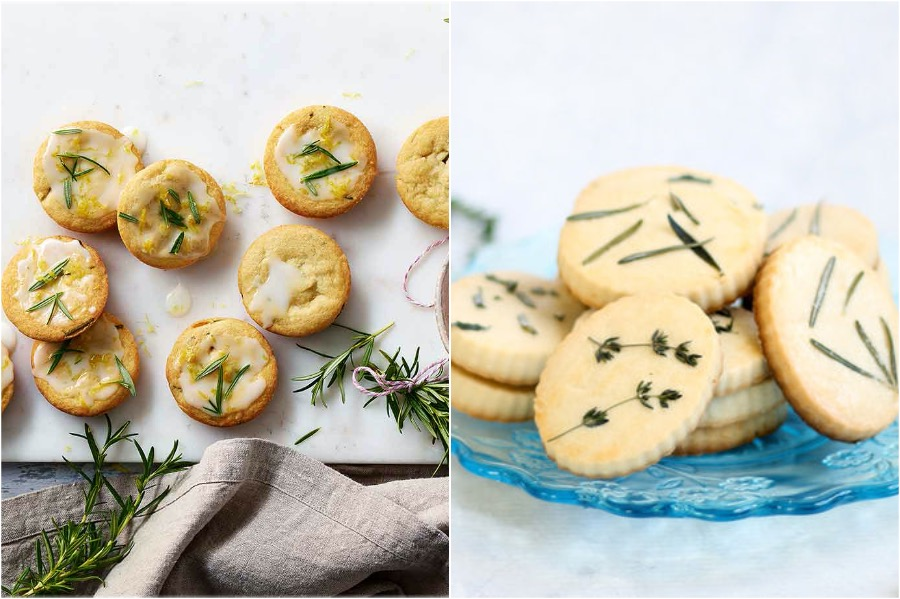 1. Lemon Herb Shortbread Cookies | 10 Desserts With Herbs You Should Try | Her Beauty