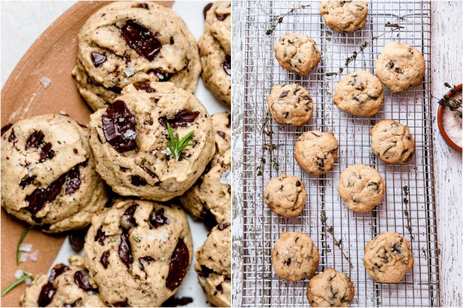 10. Salted Thyme Chocolate Chunk Cookies | 10 Desserts With Herbs You Should Try | Her Beauty