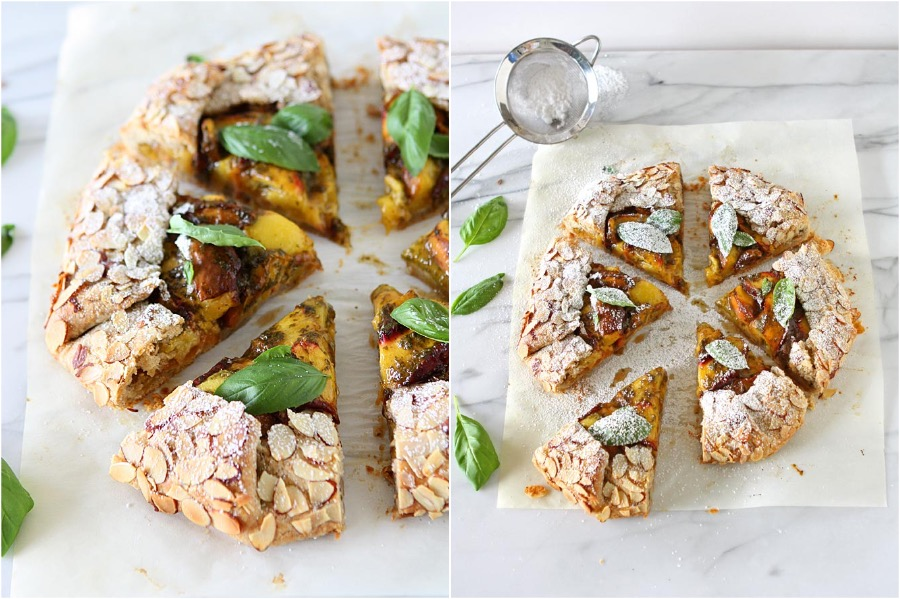 2. Peach Basil Galette | 10 Desserts With Herbs You Should Try | Her Beauty