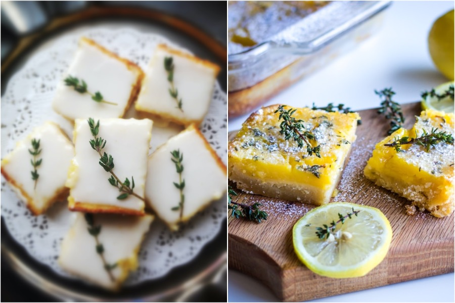 3. Lemon Honey Thyme Bars | 10 Desserts With Herbs You Should Try | Her Beauty