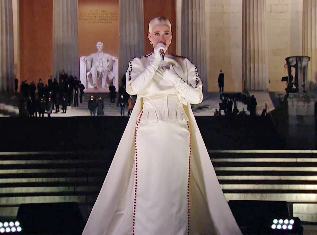 8.Katy Perry | Memorable Moments From The US Inauguration Day 2021 | Her Beauty