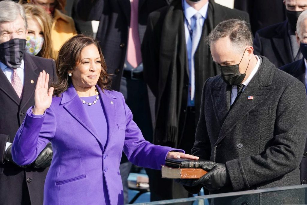 4.Vice President Kamala Harris | Memorable Moments From The US Inauguration Day 2021 | Her Beauty